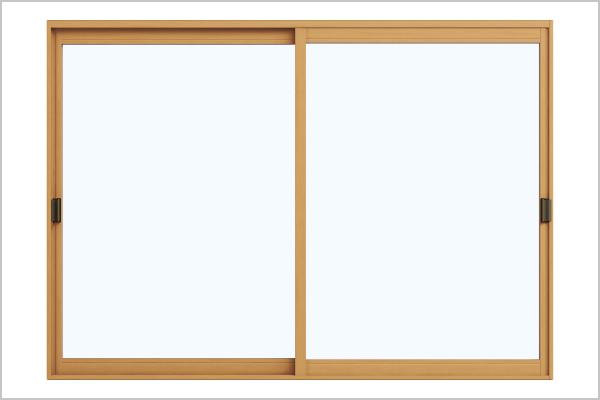 窓の 真ん中にカギがないのでスマートな印象