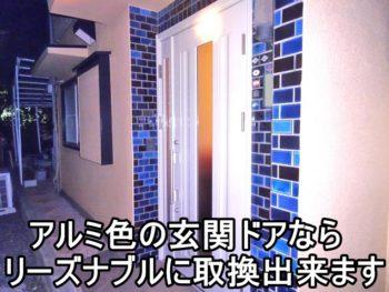 平塚市Y様 ホワイト色の玄関取換