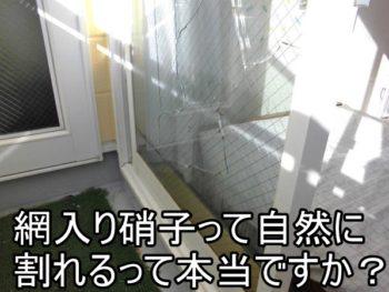 茅ヶ崎市I様 熱割れによる網入硝子交換